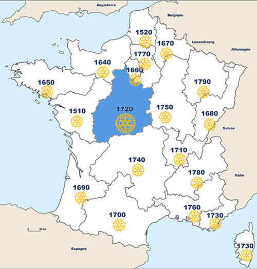 Districts de france
